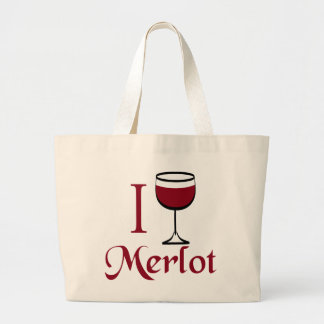 Merlot Wine Lover Gifts Large Tote Bag