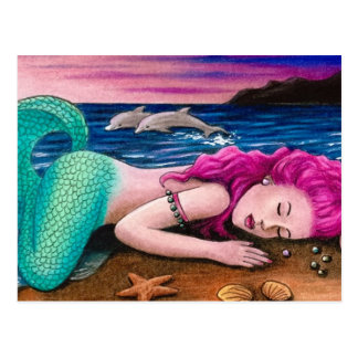 mermaid 12 postcard