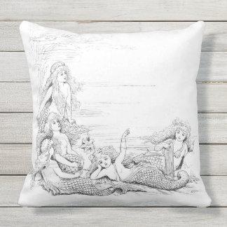 Mermaid 1 Outdoor Pillow