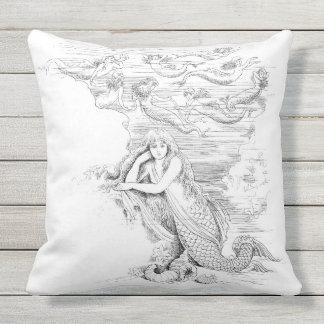 Mermaid 4 Outdoor Pillow