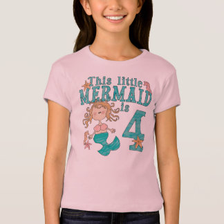Mermaid 4th Birthday T-Shirt