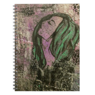 Mermaid abstract notebook