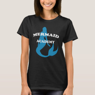 Mermaid Academy with Silhouette on Dark T-Shirt