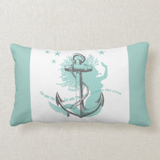 Mermaid Anchor Lumbar Pillow
