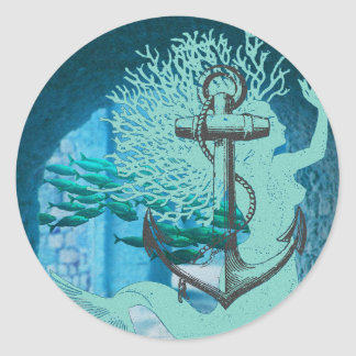 Mermaid Anchor Nautical Stickers