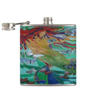 Mermaid and Butterflies Flasks