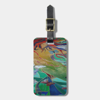 Mermaid and Butterflies Luggage Tag