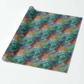 Mermaid and Butterflies Wrapping Paper