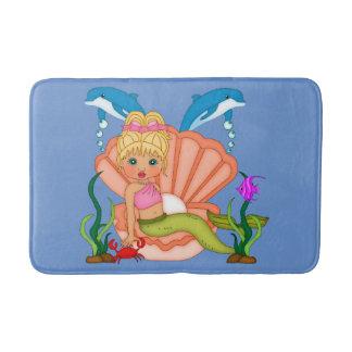 Mermaid and Dolphins Bathroom Mat