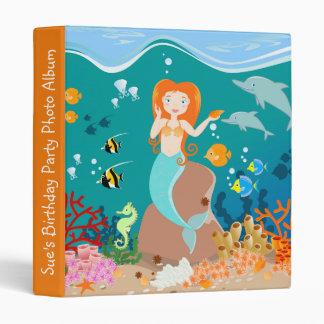 Mermaid and dolphins birthday party vinyl binders