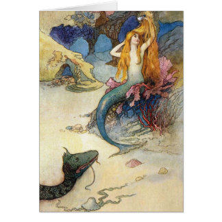 Mermaid and Dragon, Card