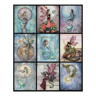 Mermaid and Fairy Poster by Molly Harrison