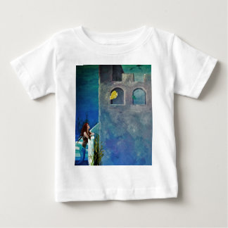 Mermaid and Fish at Undersea Castle Baby T-Shirt