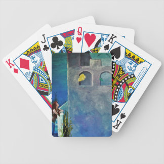 Mermaid and Fish at Undersea Castle Bicycle Playing Cards