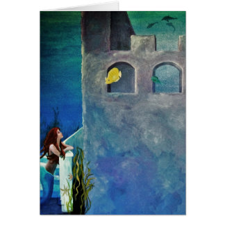 Mermaid and Fish at Undersea Castle Card