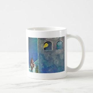 Mermaid and Fish at Undersea Castle Coffee Mug