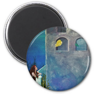 Mermaid and Fish at Undersea Castle Magnet