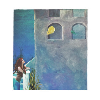Mermaid and Fish at Undersea Castle Notepad