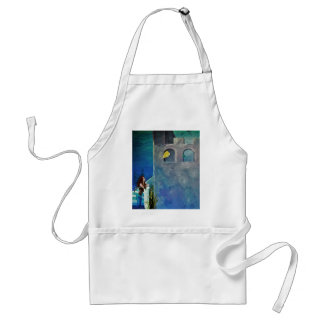 Mermaid and Fish at Undersea Castle Standard Apron
