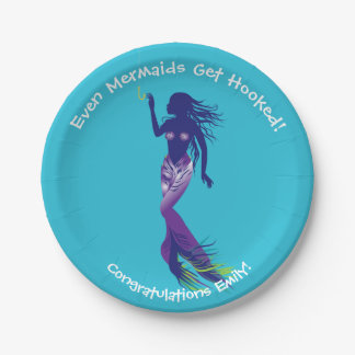 Mermaid and Golden Hook 7 Inch Paper Plate