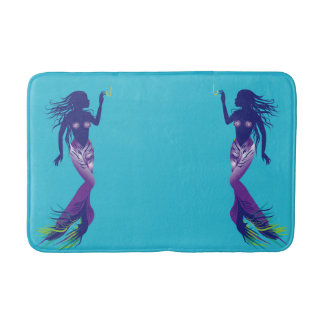 Mermaid and Golden Hook Bath Mat
