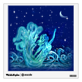 Mermaid and Moon Wall Sticker