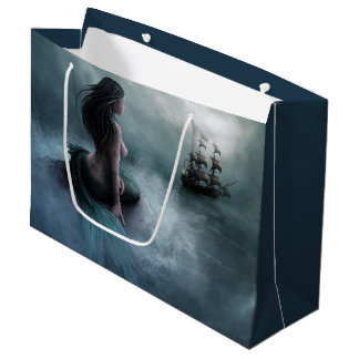 Mermaid and Pirate Ship Large Gift Bag