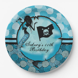 Mermaid and Pirates Birthday 9 Inch Paper Plate