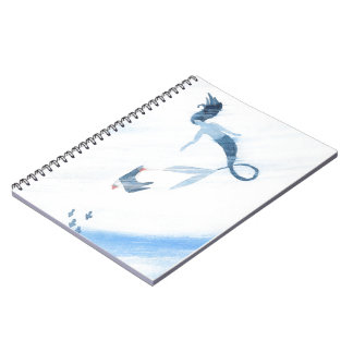 Mermaid and Puffin Notebooks