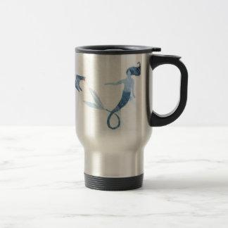 Mermaid and Puffin Travel Mug