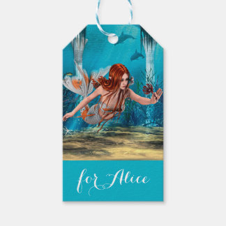 Mermaid and Sea Lily Pack Of Gift Tags