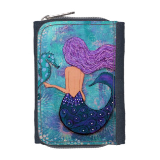 Mermaid and Seahorse Wallet