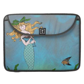 Mermaid and seal MacBook pro sleeves