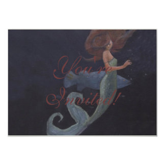 Mermaid and the Blue Fish Card