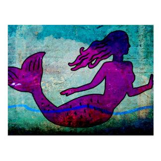 Mermaid Art Postcard