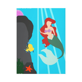 Mermaid Art Work Canvas Print