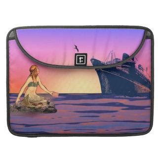 Mermaid at sunset MacBook pro sleeves