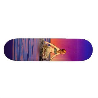 Mermaid at sunset skateboards