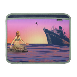 Mermaid at sunset sleeve for MacBook air