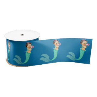 Mermaid Baby Shower Satin Ribbon