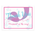 Mermaid Baby Shower Thank You Note Card