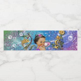 Mermaid Baby Shower Water Bottle Labels