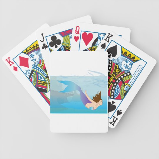 Mermaid Bicycle Playing Cards
