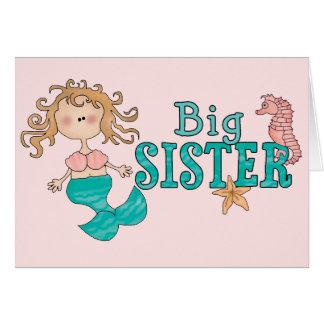 Mermaid Big Sister Note Card