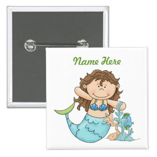 Mermaid Birthday Button