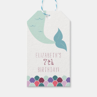 Mermaid Birthday Favor Tags - Thank You Tags