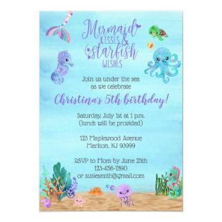 Mermaid Birthday Invitations for Girls