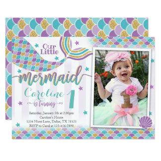 Mermaid Birthday Party Invitation Invite