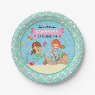Mermaid Birthday Party Paper Plate