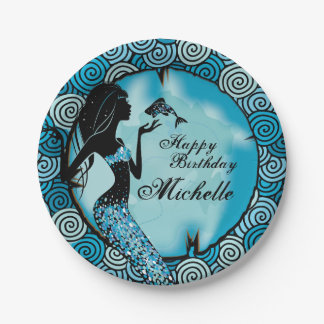 Mermaid Birthday Party Plates 7 Inch Paper Plate